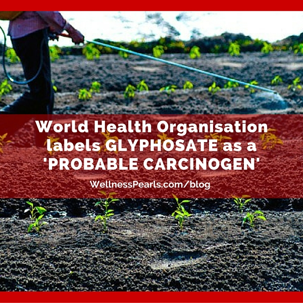 The World Health Organisation (WHO) labels GLYPHOSATE as a 'PROBABLE CARCINOGEN'. #glyphosate #healthandwellness #wellnesstips #healthtips #drsimikhanna