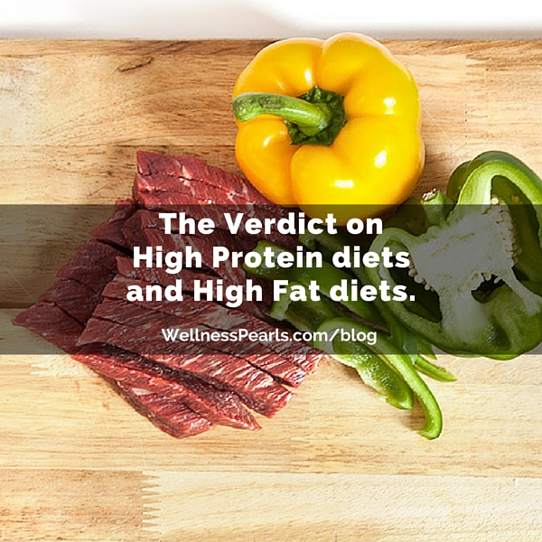 The Verdict on High Protein diets and High Fat diets!